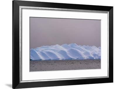 An Iceberg in Ilulissat Icefjord, an UNESCO World Heritage Site, on a Cloudy Day-Sergio Pitamitz-Framed Photographic Print