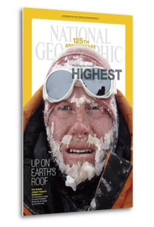 Cover of the January, 2013 National Geographic Magazine-Cory Richards-Metal Print