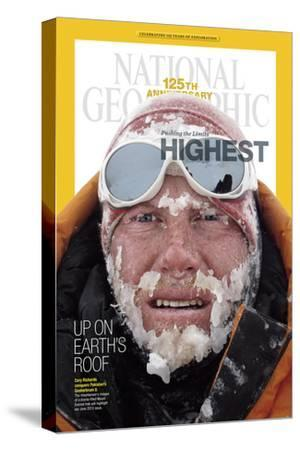 Cover of the January, 2013 National Geographic Magazine-Cory Richards-Stretched Canvas Print