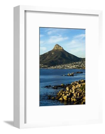 Sunset Falls on Cape Town and the Lion's Head Overlooking Table Bay-Jason Edwards-Framed Photographic Print