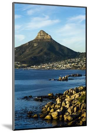Sunset Falls on Cape Town and the Lion's Head Overlooking Table Bay-Jason Edwards-Mounted Photographic Print