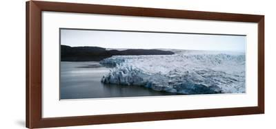 The Fracture Zone of a Glacier on the Greenland Ice Sheet Ending in a Lake-Jason Edwards-Framed Photographic Print