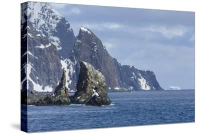 A Scenic View of Cape Valentine on Elephant Island, Antarctica-Ralph Lee Hopkins-Stretched Canvas Print