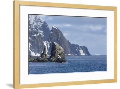 A Scenic View of Cape Valentine on Elephant Island, Antarctica-Ralph Lee Hopkins-Framed Photographic Print