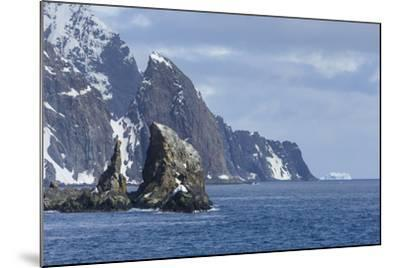 A Scenic View of Cape Valentine on Elephant Island, Antarctica-Ralph Lee Hopkins-Mounted Photographic Print