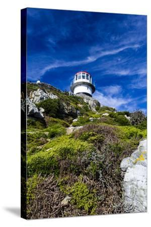 An Antique Lighthouse Summits a Cliff Near the Cape of Good Hope-Jason Edwards-Stretched Canvas Print