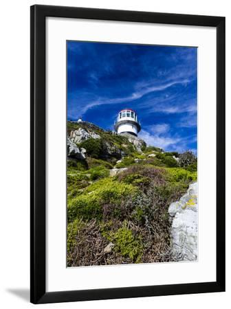 An Antique Lighthouse Summits a Cliff Near the Cape of Good Hope-Jason Edwards-Framed Photographic Print