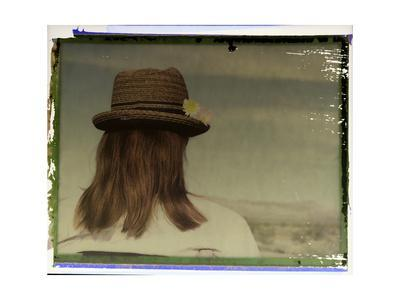 Polaroid Transfer Portrait of a Woman in Death Valley National Park, California-Bill Hatcher-Framed Photographic Print