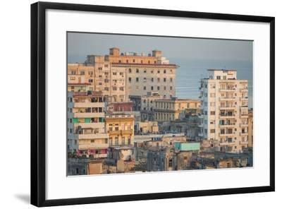 Buildings in Havana, Cuba with the Gulf of Mexico in the Background-Erika Skogg-Framed Photographic Print