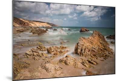 A Long Exposure During the Day by the Rock Formations Near Pedra Furada, Jericoacoara, Brazil-Alex Saberi-Mounted Photographic Print