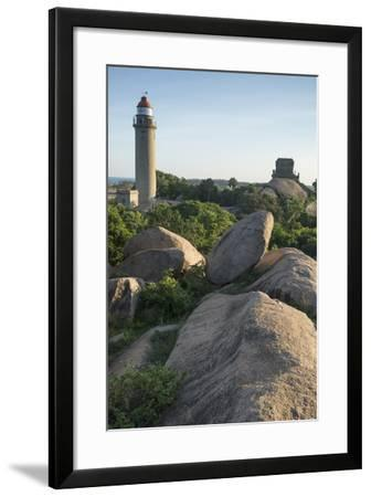 A Hilltop View of Mamallapuram Lighthouse and the Durga Temple-Kelley Miller-Framed Photographic Print