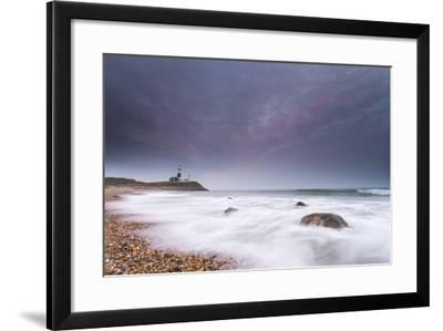 Montauk Point Lighthouse at Dusk-Robbie George-Framed Photographic Print