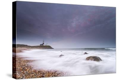 Montauk Point Lighthouse at Dusk-Robbie George-Stretched Canvas Print