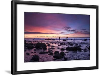 Early Morning Anglers Attempt a Good Catch on a Rocky Montauk Shoreline-Robbie George-Framed Photographic Print