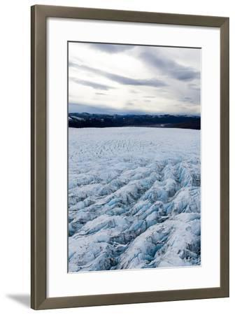 Pressure Ridges and Crevasse Scar the Surface of a Glacier on the Greenland Ice Sheet-Jason Edwards-Framed Photographic Print