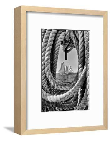 The Taber, the Oldest Documented Sailing Vessel in Continuous Service in the United States-Kike Calvo-Framed Photographic Print