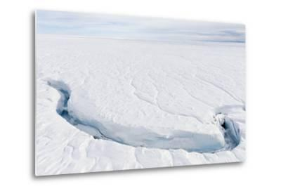 A Fracture Line Dissecting the Surface of the Ice on the Greenland Ice Sheet-Jason Edwards-Metal Print