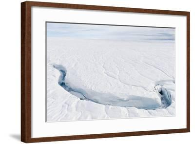 A Fracture Line Dissecting the Surface of the Ice on the Greenland Ice Sheet-Jason Edwards-Framed Photographic Print