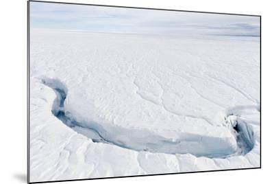A Fracture Line Dissecting the Surface of the Ice on the Greenland Ice Sheet-Jason Edwards-Mounted Photographic Print