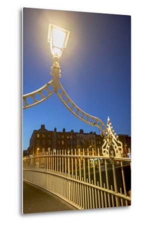 Ha' Penny Bridge over Liffey River at Dusk-Tim Thompson-Metal Print
