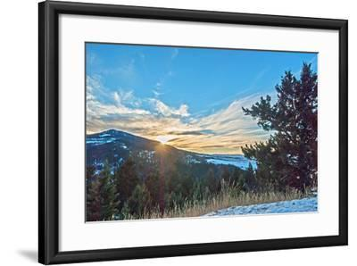 The Sun Sets Behind Mount Ellis in Montana's Gallatin Range of the Rocky Mountains-Gordon Wiltsie-Framed Photographic Print
