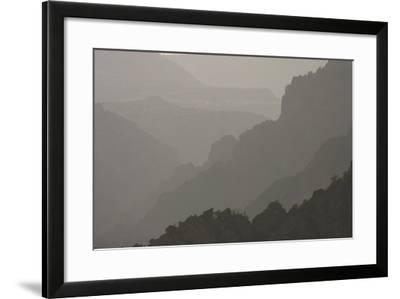 The Canyon Wall Along the South Rim of Black Canyon of the Gunnison National Park-Phil Schermeister-Framed Photographic Print