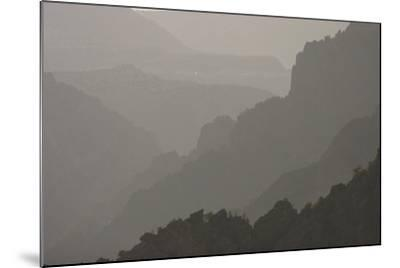 The Canyon Wall Along the South Rim of Black Canyon of the Gunnison National Park-Phil Schermeister-Mounted Photographic Print