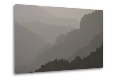 The Canyon Wall Along the South Rim of Black Canyon of the Gunnison National Park-Phil Schermeister-Metal Print