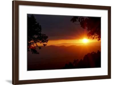 Sunset over the Blue Ridge Mountains-Amy, Al White, Petteway-Framed Photographic Print