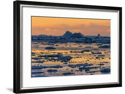 A Sunset over Grandidier Channel, Antarctica-Ralph Lee Hopkins-Framed Photographic Print