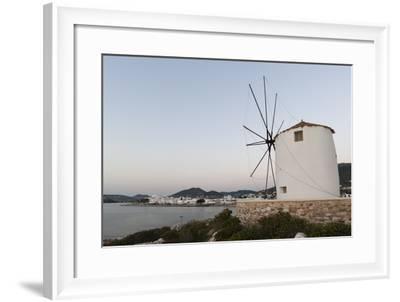 A Windmill on the Coast at Twilight, in Parikia-Sergio Pitamitz-Framed Photographic Print