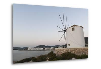 A Windmill on the Coast at Twilight, in Parikia-Sergio Pitamitz-Metal Print