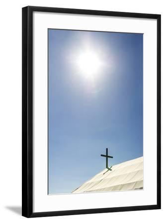 A Crucifix on the Canvas Roof of the St Alipius' School in a Gold Mine Town Museum-Jason Edwards-Framed Photographic Print