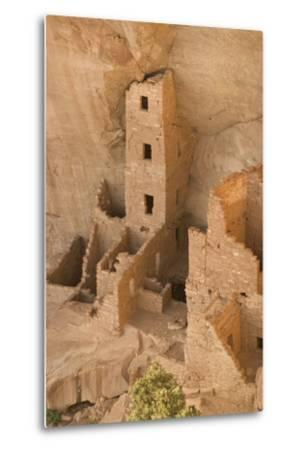 The Ruins of a Cliff Dwelling, Square Tower House, in Mesa Verde National Park-Phil Schermeister-Metal Print