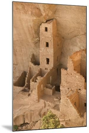 The Ruins of a Cliff Dwelling, Square Tower House, in Mesa Verde National Park-Phil Schermeister-Mounted Photographic Print