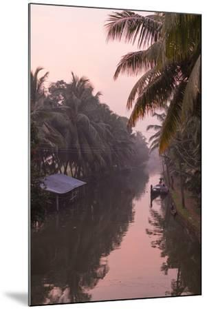 Sunset Creates a Beautiful Pink Hue in the Backwaters-Kelley Miller-Mounted Photographic Print