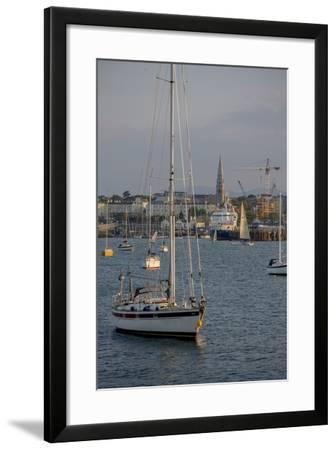 Harbour at Dun Laoghaire, a Suburb of Dublin-Tim Thompson-Framed Photographic Print