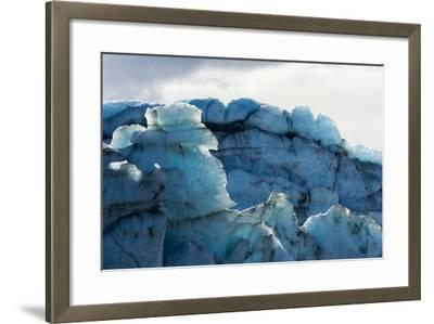 Treacherous Jagged Ice Spires on a Glacier Fracture Zone known as Serac-Jason Edwards-Framed Photographic Print