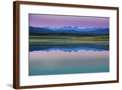 The Minarets and Mounts Ritter and Banner on the Eastern Sierra Nevada Crest-Gordon Wiltsie-Framed Photographic Print