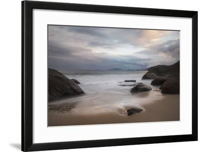 A Long Exposure of Praia Prumirim at Sunset in Ubatuba, Brazil-Alex Saberi-Framed Photographic Print