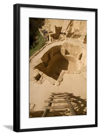 The Ruins of a Cliff Dwelling, Cliff Palace, in Mesa Verde National Park-Phil Schermeister-Framed Photographic Print