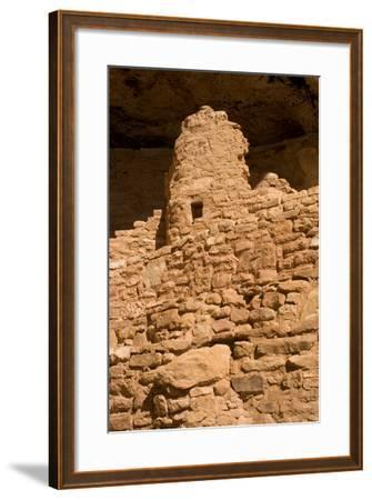 Ruins of a Small Cliff Dwelling, Step House, in Mesa Verde National Park-Phil Schermeister-Framed Photographic Print