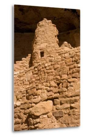 Ruins of a Small Cliff Dwelling, Step House, in Mesa Verde National Park-Phil Schermeister-Metal Print