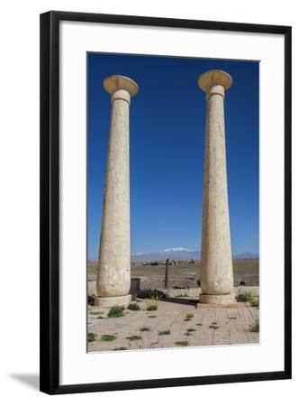 Egyptian Columns from a Film Set at the Atlas Film Studio-Richard Nowitz-Framed Photographic Print