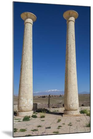 Egyptian Columns from a Film Set at the Atlas Film Studio-Richard Nowitz-Mounted Photographic Print