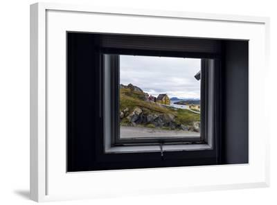 The View of Cottages in an Arctic Village Through a Weather-Sealed Window-Jason Edwards-Framed Photographic Print