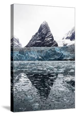 The Sheer Fracture Zone of a Glacier Sandwiched Between Alpine Peaks in a Fjord-Jason Edwards-Stretched Canvas Print