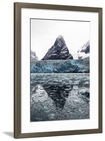 The Sheer Fracture Zone of a Glacier Sandwiched Between Alpine Peaks in a Fjord-Jason Edwards-Framed Photographic Print