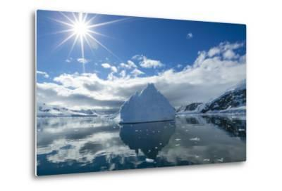 Reflections of Icebergs on Water in Niko Harbor, Antarctica-Ralph Lee Hopkins-Metal Print