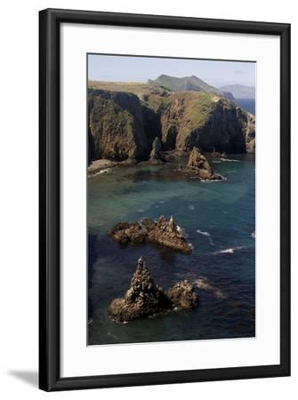 Cathedral Cove on Anacapa Island in Channel Islands National Park-Phil Schermeister-Framed Photographic Print